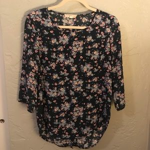 Floral 3/4 Length Top